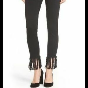 Blank NYC Cropped Fringe Hem Jeans-28